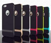 iPhone 6 Plus Rock Neo Hybrid Hard Bumper Soft Rubber Enviro...