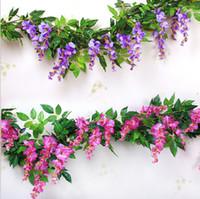 Artificial Silk Chinese wistaria Rattan 180CM long For Weddi...