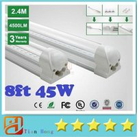 2. 4m Integrated T8 Led Tubes Light 45W 4800lm 8ftT8 Led Fluo...