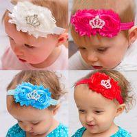 Chaud ! 9 couleurs Bébés filles Enfants beaux roses Perles Hair Bands Vintage Flowers Crown Accessoires cheveux de Bandeaux Jolie Bandeaux infantile