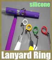 anneau de lanière clips anneau ego cordon e cig lanière anneau silicone anneau de cordon anneau de lanière en caoutchouc pour H2 ce4 T3S clearomizer Evod batterie FJ048