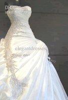 Elegant White Wedding Dresses A- Line Sweetheart Floor Length...