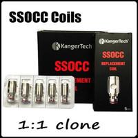 Clone Kanger SSOCC Bobinas 5pcs / Pack Bobina de Reemplazo Para Kanger Nebox Subtank Plus Mini Vaporizador 5 ohmios tipo