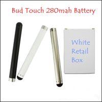 Модные Super Slim Bud Батарея 280mAh касания 3.3V-4.2V Подходит для Bud сенсорным Атомайзер к электронной сигареты E CIG батареи Женская