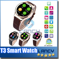 2016 Smart Watch T3 Smartwatch Support SIM Carte SD Bluetooth WAP GPRS SMS MP3 MP4 USB pour iPhone et Android
