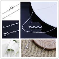 New 925 Sterling Silver cross chain copper necklace Korean V...