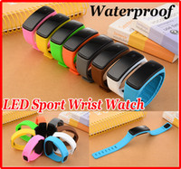 Unisex Candy Color Silicone LED Waterproof Sport Wrist Watch...