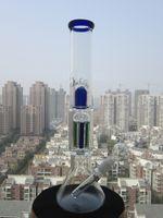 2015 New 37CM Hauteur Pipe en verre à la main Bong Verre soufflé Vase Beaker Percolateur 6 bras Pipes 18.8mm Joint SL15021