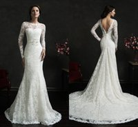 New Spring Lace Mermaid Wedding Dresses 2016 Amelia Sposa Vi...