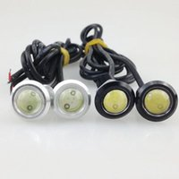 Voiture 2.3Cm 9W Waterproof Eagle Eye LED (DC 12V) Daytime Running Fog Eagle Eye Lamp Livraison gratuite