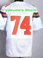 2015 New Player White Orange Brown Elite Jerseys, Customized ...