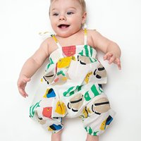 NEW ARRIVAL baby girl infant toddler fish print romper onesi...