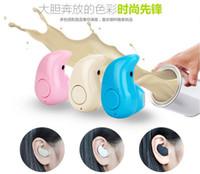 Ultra-petite Invisible Mini S530 écouteurs stéréo sans fil Bluetooth V4.0 Casque In-Ear Lumière Furtif intra-auriculaires Casque mains libres Appel