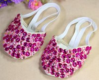 Belly Ballet Dance Shoes Toe Undies Dance Paws Half Crystal ...