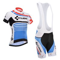 Cube 2015 Cycling Jerseys Short Sleeve With Padded Bib None ...