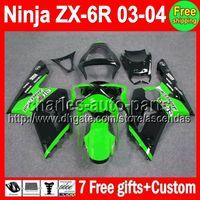 7gifts For KAWASAKI Stock green NINJA ZX6R 03- 04 ZX- 6R ZX636...