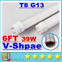 39W 6ft(feets) Cooler Door V- Shaped Dual Row T8 G13 Led Tube...