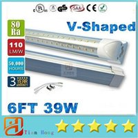 39W T8 6FT V- Shaped Led Tube Lights For Cooler Door 1. 8m Int...
