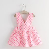 Korean 2015 Summer Dots Children Girls Cute Dresses Sleevele...