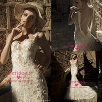 2015 Backless Lace Mermaid Wedding Dresses New Galia Lahav S...