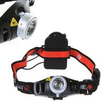 Ultra luminoso 500 Lumen 500LM Q5 LED del faro del faro Zoomable testa della torcia elettrica luce H9175 ad alta potenza