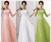 New Brand bridesmaid dresses Spring Lace Chiffon Sexy Long p...