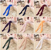 Mix Color Girl Candy Color Velvet Stockings Plus File Pantyh...