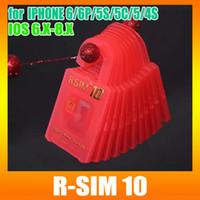 R-SIM-10 специально для ОС IOS 8.1 8.0.2 Разблокировать карту для iPhone6 6plus 5S 5C 4S SoftBank AU DOCOMO UK EE 4G сетей R-sim10 DHL свободная 20 / шт