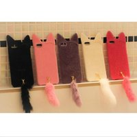 Cat Ears Tail Soft Plush Case Cover Skin for Iphone 6 4. 7&#0...