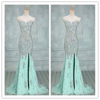 Prom Dresses with Rhinestone Crystal 2015 New Arrival High S...