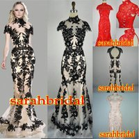Zuhair Murad Fashion Runway Black Lace Tulle High Neck Sheer...