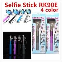 Extendable selfie Monopod Cable RK90E Wired Selfie Stick rea...