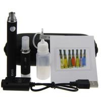 MT3 Evod Starter Kit Rechargable Evod Batterie MT3 atomiseur E Cigarette Evod MT3 kit étui à fermeture éclair avec l'expédition eGo Case DHL gratuit