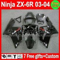7gifts ALL Black For KAWASAKI NINJA ZX6R 03- 04 ZX- 6R ZX636 M...