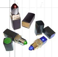 5pcs / lot rouge à lèvres fumer pipe tuyaux de tabac tuyau en métal tuyau à main