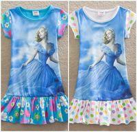 2015 Newest Cinderella T- shirts With Skirt Dress Summer Girl...