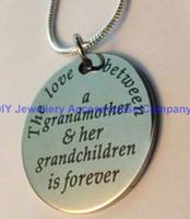 24pcs 30mm en acier inoxydable l'amour betwwen grand-mère et le pendentif de son amant collier pendentif cadeau femme (chaînes de serpent 2mm inclus)