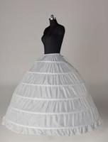 На складе плюс размер мантии шарика 6 Обруч Свадебные Петтикот кринолин Underskirt Свадебный Юбки