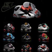 Nike Air Jordan 7 Retro VII Children' s Leather Shoes Ki...