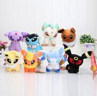 "Pokemon Plush Toys 5"" 8pcs set Umbreon Eevee Espeon Jol..."