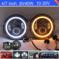 "Kits 2PCS 7"" Inch Cree 30 40W LED Headlight With Angel ..."