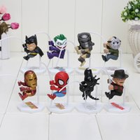 8pcs set Superheroes Q Version Spider- man Batman Alien Joker...