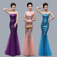 2015 Mermaid Sweetheart Prom Dresses with Sequine New Collec...