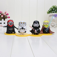 4pcs set Minions Cos Star Wars Action Figures Despicable Me ...
