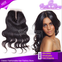 Middle Part Brazilian Lace Closure Hairpieces Hair Extension...