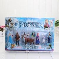 hot Frozen 6Pcs set PVC action Figure Play Set Anna Elsa Han...