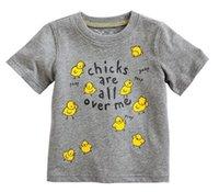 2014 Summer Children Boys Short Sleeve T- Shirts Cotton Yello...