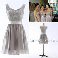 2016 Spring Cheap Short Lace Bridesmaids Dresses 2015 A Line...