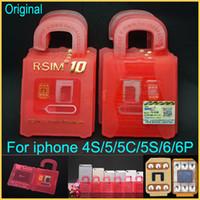 Оригинал разблокировки карты R-SIM 10 RSIM 10 R SIM 10 идеально подходит для разблокировки iPhone 6 Plus 6 5S 5C 5 4S IOS 7.x- 8.x T-mobible Sprint Verizon WCDMA GSM