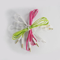 DHL Free Colorful Flat Noodle 3. 5mm Aux Audio Auxiliary Cabl...